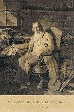 Joseph Marie Jacquard - Image: A la mémoire de J.M. Jacquard