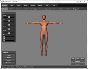 A screenshot of makehuman 1.0 alpha 7.png