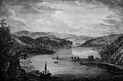 A view of Gaspe Bay, 1758, Drawn on the spot by Capt Hervey Smyth. American Antiquarian Society