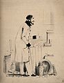 A wealthy doctor counting money. Lithograph. Wellcome V0011776.jpg