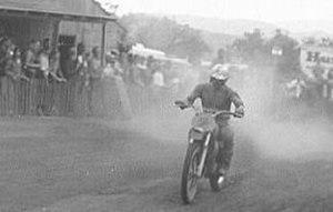 Bengt Åberg - Åberg on his Husky at the 1969 Westlake GP in California. Åberg won the race.