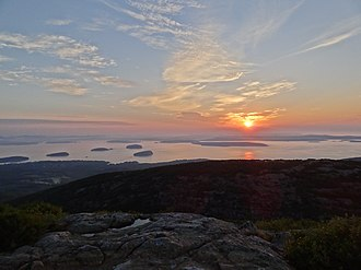 Cadillac Mountain - Sunrise from summit