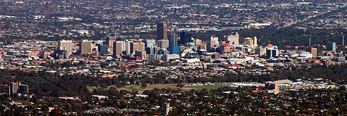 View of Adelaide CBD during the day from the summit.