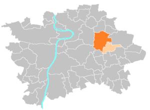 Prague 14 - Image: Administrative district Prague 14
