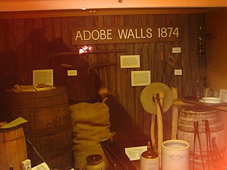 Second Battle of Adobe Walls - Adobe Walls exhibit in Borger, Texas