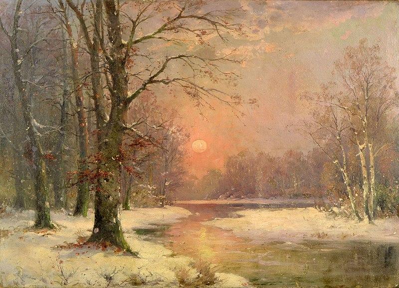 File:Adolf Kaufmann - Sonnenuntergang in Winterlandschaft.jpg