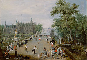 Adriaen van de Venne - Before a Country Palace
