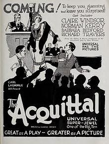 Advertisement for 1923 silent film The Acquittal.jpg