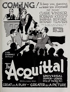 <i>The Acquittal</i> 1923 film by Clarence Brown