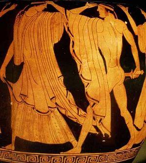 Agamemnon - Orestes slaying Clytemnestra