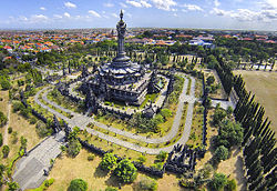 Aerial view of the Bajra Sandhi Monument