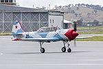 Aerostar Yak-52W (VH-YVK) taxiing at Wagga Wagga Airport (1).jpg