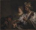 Aert de Gelder - Den persiske kong Ahasverus giver Mordokaj ringen - KMS1526 - Statens Museum for Kunst.jpg