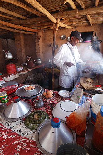 Cooking - Cooking in a restaurant in Morocco