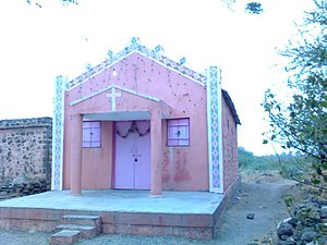 Marathi Christians -  Church in Vadule village