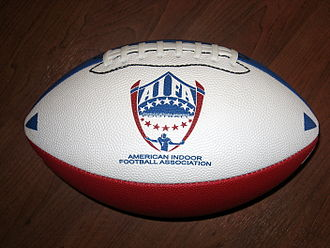 American Indoor Football - The AIFA's red, white, and blue football