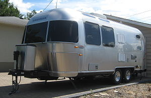 Airstream trailer in Saskatoon, SK, summer 2008