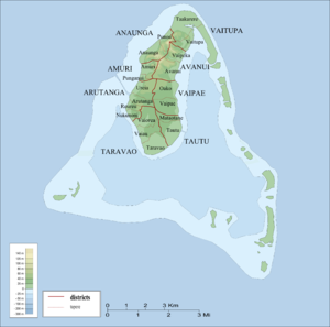 Tapere - Districts and tapere of Aitutaki