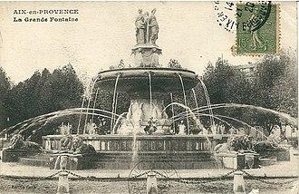 Fontaine de la Rotonde - Image: Aix.Provence CP anté20 30