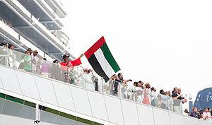 Dubai World Cup - A UAE supporter at the Dubai World Cup