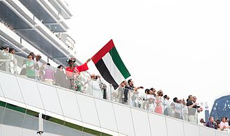 Dubai World Cup - A UAE supporter at the Dubai World Cup