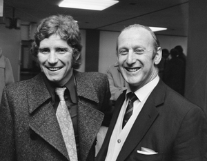 Alan Ball Jr. - Alan Ball and manager Bertie Mee, March 1972