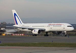 Albanian Airlines Boeing 757 Lebeda.jpg