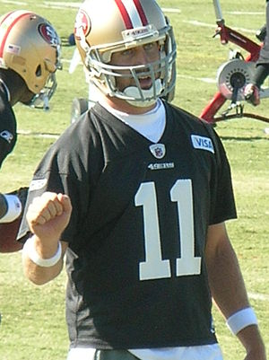 Alex Smith - Smith at training camp in 2010