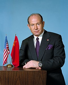 Alexei Leonov in April 1974, the year before the launch of Apollo–Soyuz Test Project