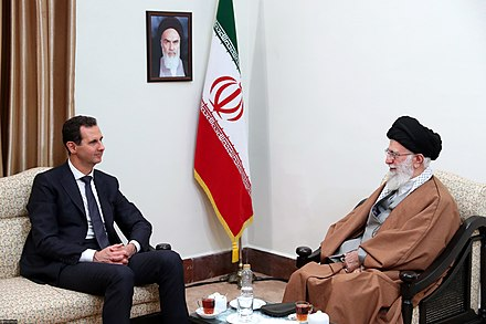 Bashar al-Assad meets with Iran's supreme leader Ali Khamenei, 25 February 2019 Ali Khamenei and Bashar al-Assad05.jpg