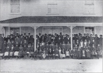 1905 student body of the Alice Freeman Palmer Institute, founded by Charlotte Hawkins Brown in 1902 and named in memory of Palmer Alice Freeman Palmer Institute, founded by Charlotte Hawkins Brown.tif