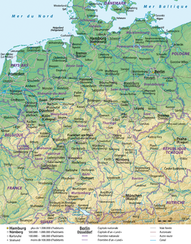 Carte Allemagne Geographique.Geographie De L Allemagne Wikipedia