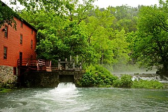 Alley Spring, Missouri - The mill at Alley Spring is now part of the Ozark National Scenic Riverways park.