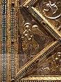 Altare di s. ambrogio, 824-859 ca., lato dx dei maestri delle storie di cristo, angeli e santi che adorano la croce gemmata 08.jpg