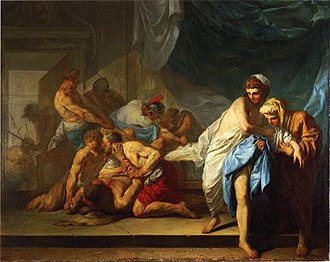 Jacques-François Amand - Samson Delivered to the Philistines  (1755)