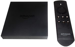 Amazon Fire TV with remote.JPG