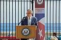 Ambassador DeLaurentis Introduces Secretary Kerry to Speak and Preside Over the Flag-Raising Ceremony at the Newly Re-Opened U.S. Embassy Havana (20385822459).jpg