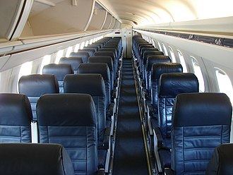 Embraer ERJ family - Three abreast cabin