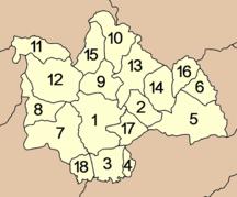 Provincia di Kalasin-Suddivisione amministrativa-Amphoe Kalasin