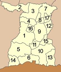 Provincia di Surin-Suddivisione amministrativa-Amphoe Surin