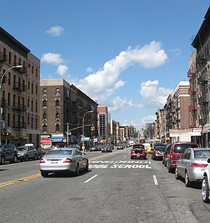 Tenth Avenue (Manhattan) - Amsterdam Avenue at 164th Street in Washington Heights