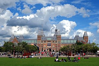 The Rijksmuseum houses Rembrandt's The Night Watch. Amsterdam rijkmuseum.JPG