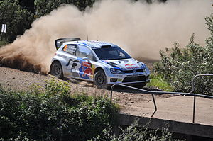 Volkswagen Motorsport - Andreas Mikkelsen driving a Volkswagen Polo R WRC at the 2013 Rally de Portugal.