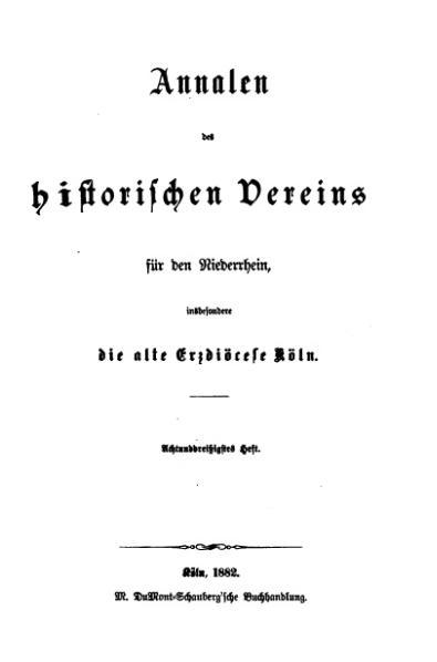 File:Annalen des Historischen Vereins für den Niederrhein 38 (1882).djvu