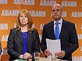 Annie Lööf och Fredrik Reinfeldt, 2013-09-09 01.jpg