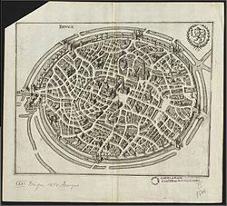 Anoniem stadsplan van Brugge uit 1650.jpg