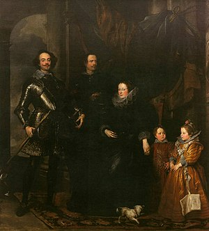 Anthony van Dyck - Genoan hauteur from the Lomellini family, 1623