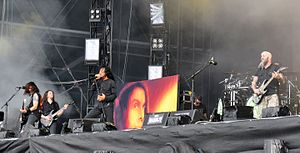 Rap metal - With the release of its extended play I'm the Man, Anthrax (pictured) is considered one of the pioneers of rap metal.