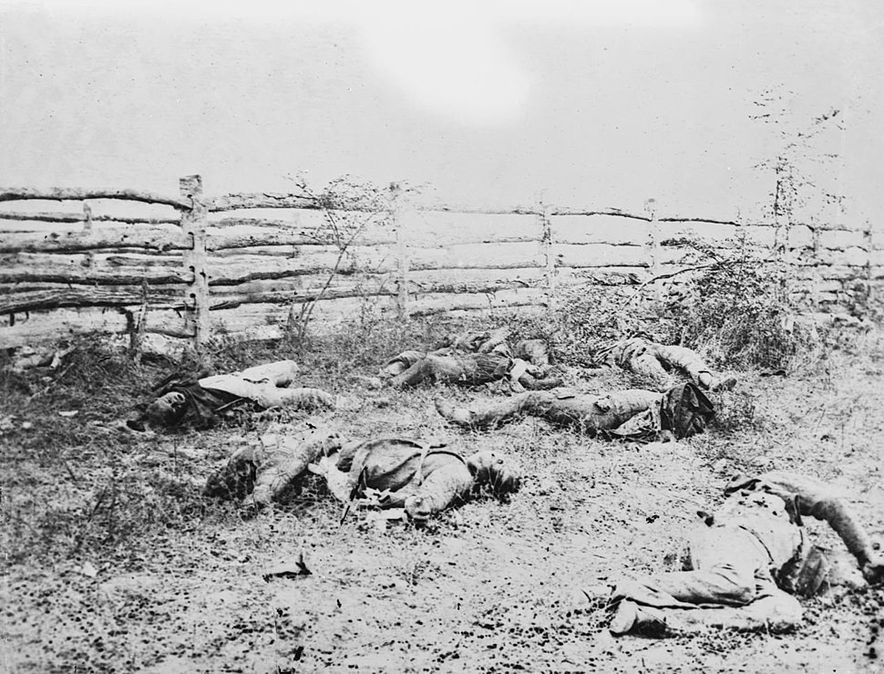 Antietam, Maryland. Confederate soldiers 1862