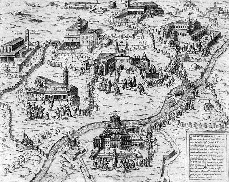 File:Antonio Lafreri - Pilgrims visiting the Seven Churches of Rome during the Holy Year of 1575 - WGA12374.jpg